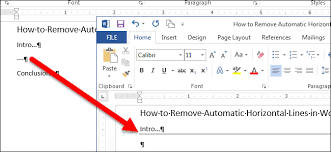 horiztal how to remove automatic horizontal lines in word