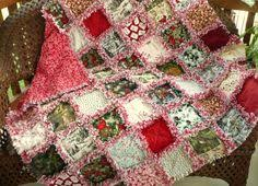 REDUCED Christmas Rag Quilt -Holiday Frost Red and Gray Woodland ... & REDUCED Christmas Rag Quilt -Holiday Frost Red and Gray Woodland Snowflakes  Cozy Lap Throw | Christmas rag quilts, Rag quilt and Frosting Adamdwight.com
