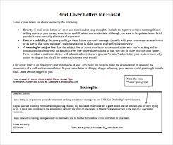 job application brief cover letters for e mail brief cover letter examples