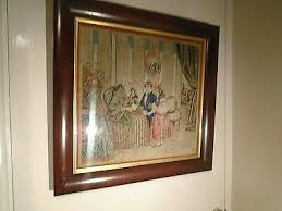 embroidery victorian framed