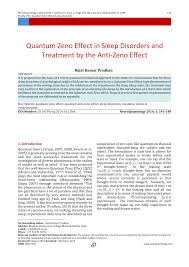 quantum zeno effect in sleep disorders and treatment by the anti  quantum zeno effect in sleep disorders and treatment by the anti zeno effect pdf available