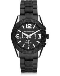 shop men s karl lagerfeld watches from 125 lyst karl lagerfeld kurator 41 5 mm men s chronograph watch lyst