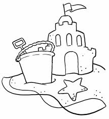 Beach coloring pages sand castle - ColoringStar