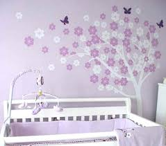 baby girl nursery wall decor ideas for purple home design art