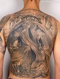 тату ангел смерти на спине эскизы татуировок