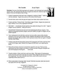The crucible argumentative essay prompts          Pinterest