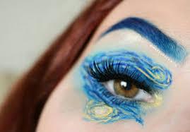 vincent van gogh inspired makeup look