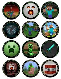 Free Printable Minecraft Cupcake Toppers Minecraft Cupcakes