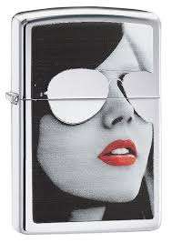 "<b>Зажигалка Zippo</b> 28274 ""<b>Sunglasses</b>"" <b>High</b> Polish Chrome, Зиппо ..."