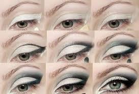 white smokey eye makeup tutorial for green eyes