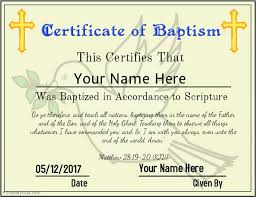 Baptism Certificate Certificate Of Baptism Template Postermywall