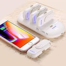 Bộ sạc dự phòng 4 viên sạc mini nam châm không dây siêu nhỏ gọn cho mọi  dòng điện thoại_Tặng đế sạc cao cấp 5000 mAh
