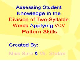 Vcv Pattern Simple SMART Exchange USA VCV Word Division Miss Sara Mr Stefan