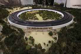 apple office. this roomsized mockup of the planned apple hq was released in november office r