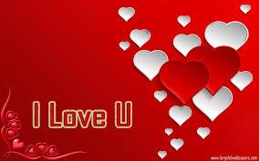 i love you colourful heart photos