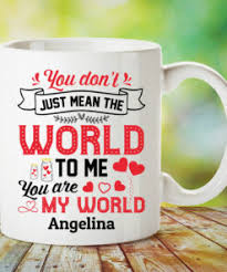 Send personalized valentine's day gifts online choosing gifts for your valentine requires you to put all your heart and soul as you do not want to end up gifting something mediocre. Personalized Valentines Day Mug Personalized You Are My World Coffee Mug Cubebik