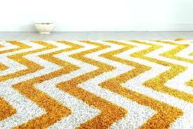 orange chevron rug black and white 9x12