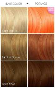 Arctic Fox Hair Dye Color Chart Arctic Fox Hair Colour In Porange