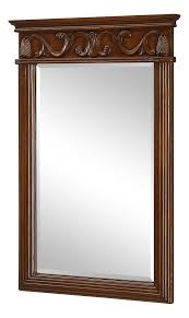 Mirror With Wood Frame Design Amazon Com Brown Danville 36in X 25in Rectangular Beveled