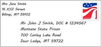 Mailing Letters Publications And Packages To Inmates At Montana