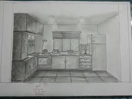 kitchen drawing perspective. Contemporary Kitchen The Boring Mona Throughout Kitchen Drawing Perspective