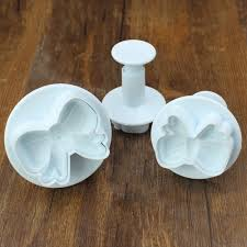 3pcs set home diy bow knot bakeware flower plunger cutter molds embossed stamp