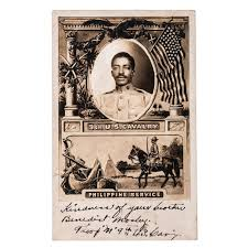 AFRICAN AMERICANA] -- [BUFFALO SOLDIERS]. Real photo postcard of ...