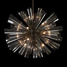 flute chandelier by viz glass