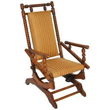 antique wicker rocking chair with springs best home decoration