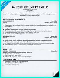 How To Make A Dance Resume 21 Best College Info For Christa Images Dance Resume
