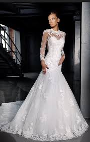 new style fishtail wedding dresses long sleeve mermaid wedding