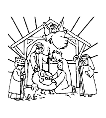 Small Picture Christian Christmas Coloring Pages Printable dikmainfo dikmainfo