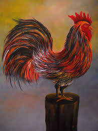Rooster Kitchen Decorations Rooster Painting Country Barnyard Rooster Chicken Art Kitchen
