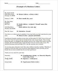 Sample Business Letter Forms 8 Free Documents In Word Pdf