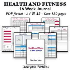 Fitness And Nutrition Journal Details About 16 Week Health And Fitness Journal Pdf Perfect For Bodyboss Or Similar