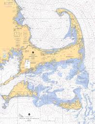 Cape Cod Marthas Vineyard And Nantucket Nautical Chart Tote Bag