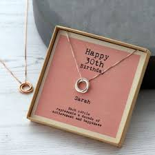 sterling silver happy 30th birthday necklace personalised