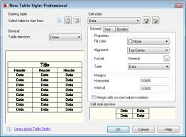 Autocad Text Height Chart Autocad Tutorial Create A Cell Style For A Table Autocad