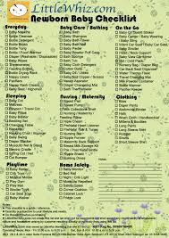 Baby Check List Newborn Check List