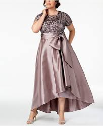 Plus Size High Low Gown