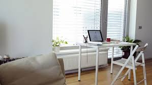 sunny day home office. Home Office. Desk With Various Gadgets And Office Objects. - HD Stock Footage Clip Sunny Day