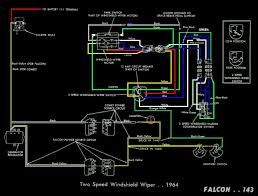 falcon diagrams 1966 Ford Mustang Wiring Diagram electric wipers circuit