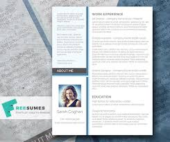 Modern Resume Design Inspiration A Splash Of Blue The Free Modern Resume Design Freesumes