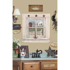 outhouse window and signs 9 piece peel on primitive outhouse bathroom wall art set of 3 with roommates 27 in x 40 in outhouse window and signs 9 piece peel and