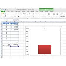 How To Make A Thermometer Chart In Microsoft Excel 2010