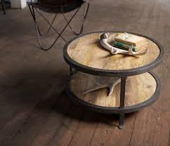 small round wood coffee table rustic