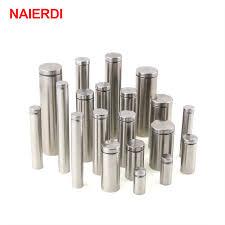 <b>10PCS</b> NAIERDI <b>Glass</b> Fasteners 19mm <b>Stainless Steel</b> Acrylic ...
