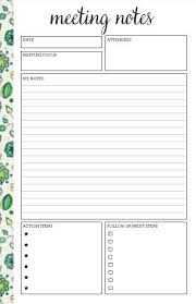 Notepad Template I Like This Meeting Agenda Notepad Set How Cool Would This Be With