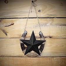 horseshoe wall decor with large star