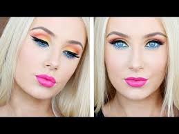 bright colourful makeup tutorial
